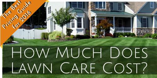 lawn service cost 2016